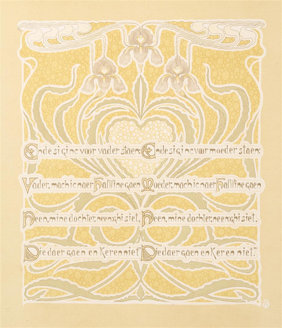 Prent VI uit Dat Liedekin van Heere Halewine, Henricus Jansen (1904)