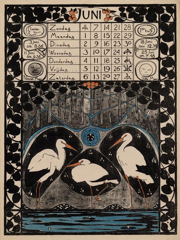 Kalenderplaat Theo Nieuwenhuis collectie Wolfsonian-FIU
