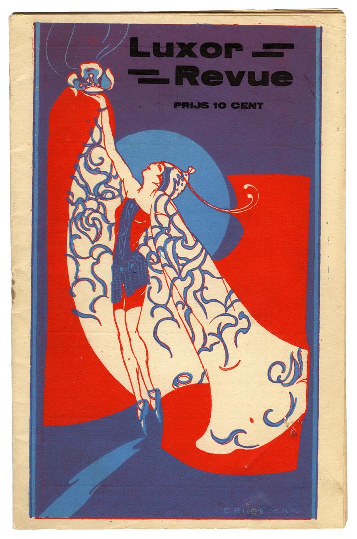 Programmaboekje Luxor Revue, omslagontwerp: Dolly Rudeman (1931)