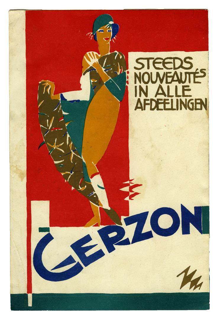 Programmaboekje Cabaret La Gaîté Dansant - Grand Theatre Rotterdam (achterzijde), ontwerp: Pieter den Besten (ca. 1925)
