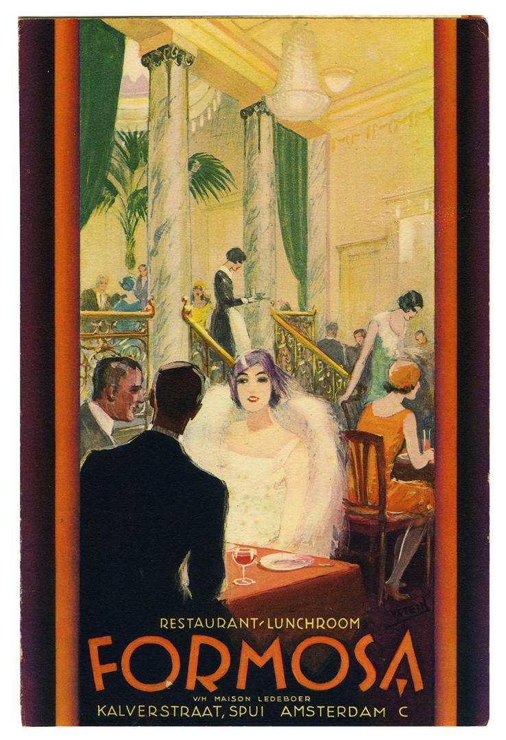 Brochure restaurant en lunchroom Formosa, ontwerp Johann von Stein (ca. 1925)