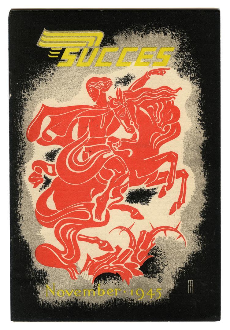 Brochure - Succes Nederland's Efficiency Maandblad, omslagontwerp: Pieter Hofman (1945)