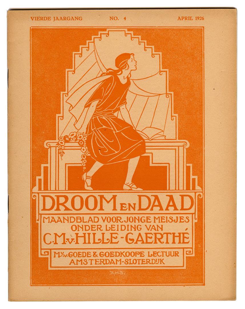Tijdschrift - Droom en Daad, omslagontwerp: Bernardina Midderigh-Bokhorst (1926)