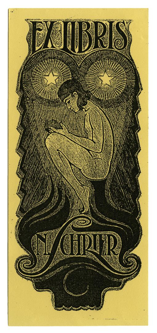 Ex libris, ontwerp: Nico Schrier (ca. 1930)