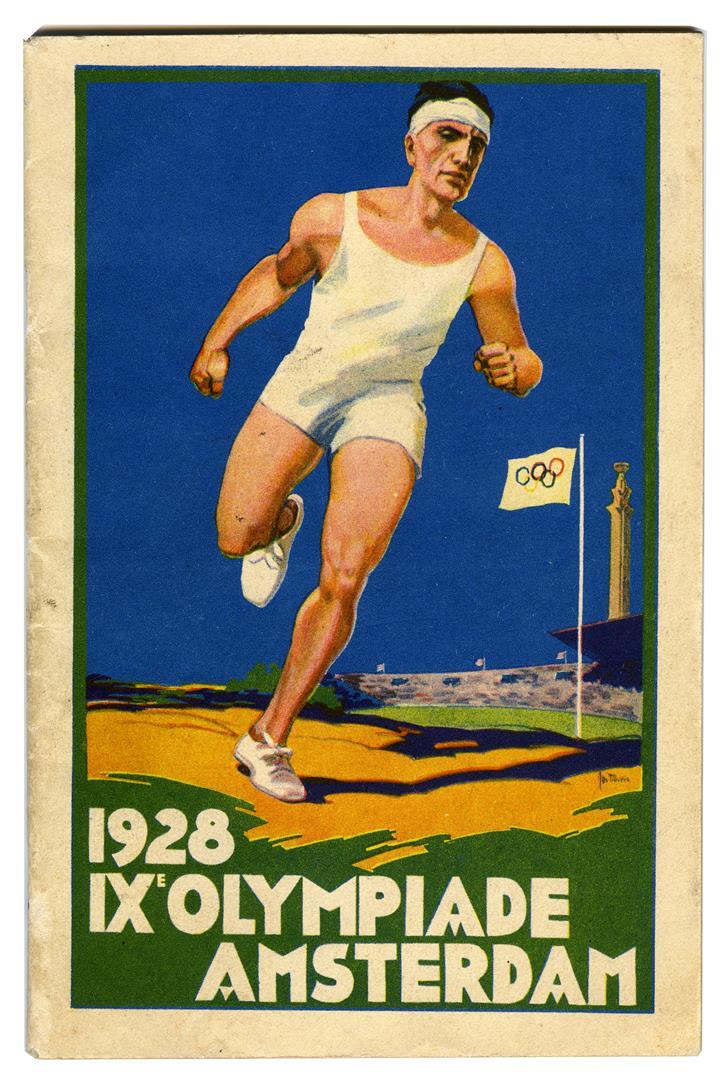 Brochure IXe Olympiade Amsterdam, omslagontwerp: Jos Rovers (1928)