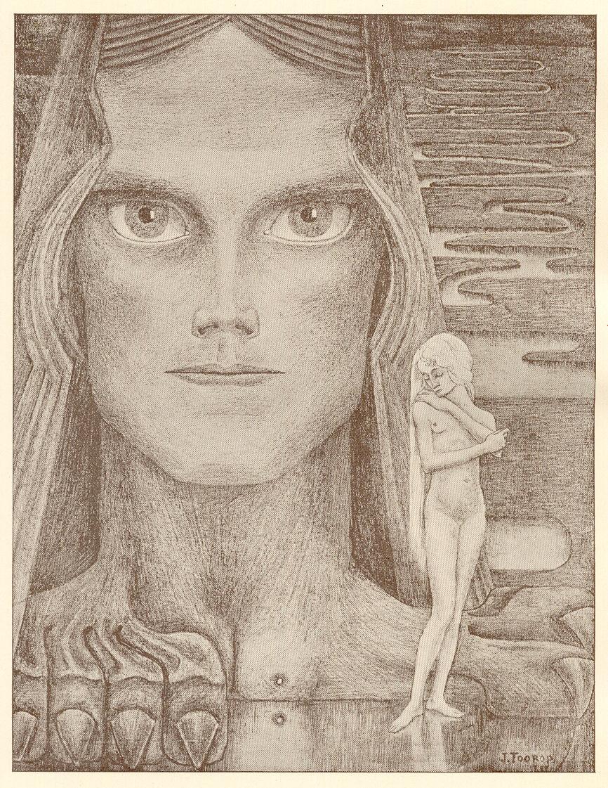 Boekillustratie voor Psyche 2e druk 1899, ontwerp: Jan Toorop