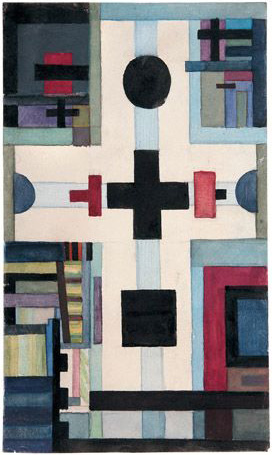 Nikolaj Soejetin, suprematistische compositie, 1928/29, Collectie SEPHEROT foundation