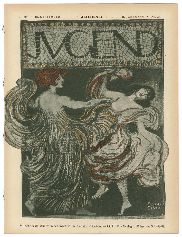 Jugend nr. 38, 18 september 1897, omslagontwerp: Franz von Stuck