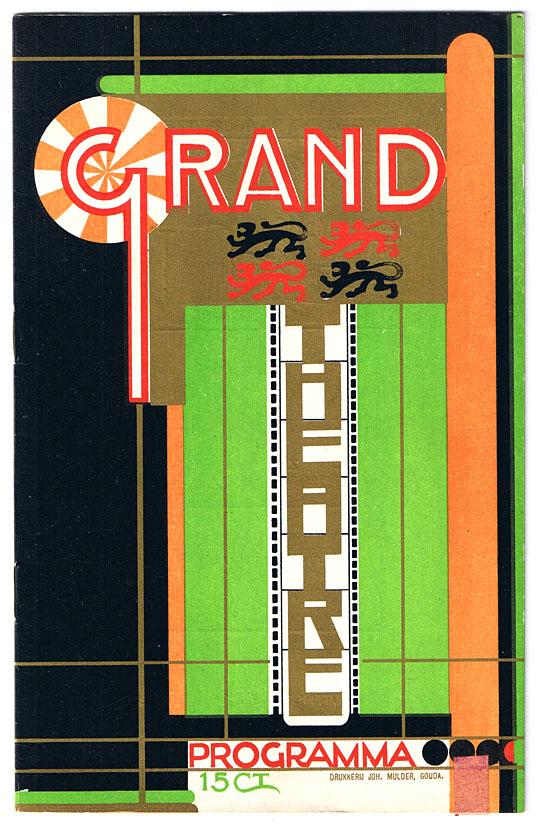 Programma Grand Théâtre Rotterdam,omslagontwerp: Jac. Jongert (1924)