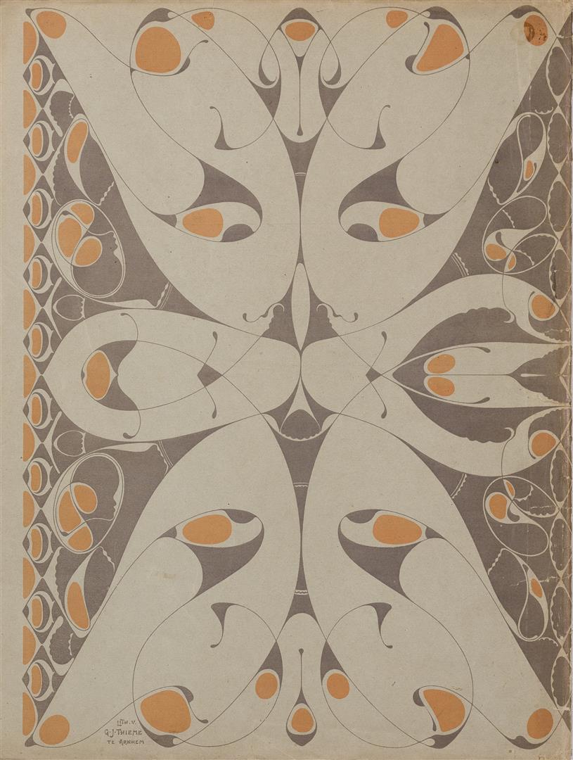 De Architect (achterzijde), omslagontwerp: Karel de Bazel (1895)