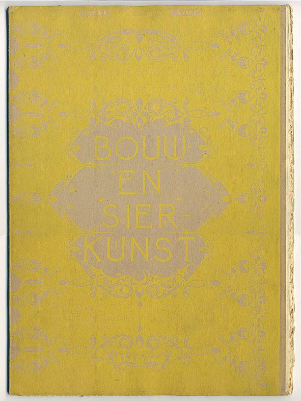 Bouw- en Sierkunst (2e jrg 1899), omslagontwerp: Karel de Bazel