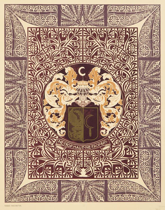 Binnenbekleding batik boekband Album Joh. Enschedé en Zonen Theo Neuhuys 1903