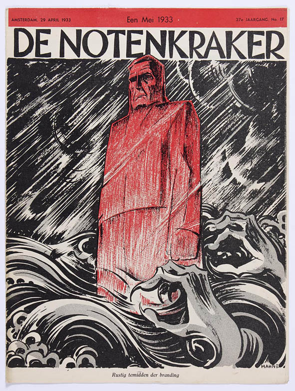 Tijdschrift De Notenkraker omslagontwerp Albert Hahn jr. 1933 stijl Amsterdamse School art deco