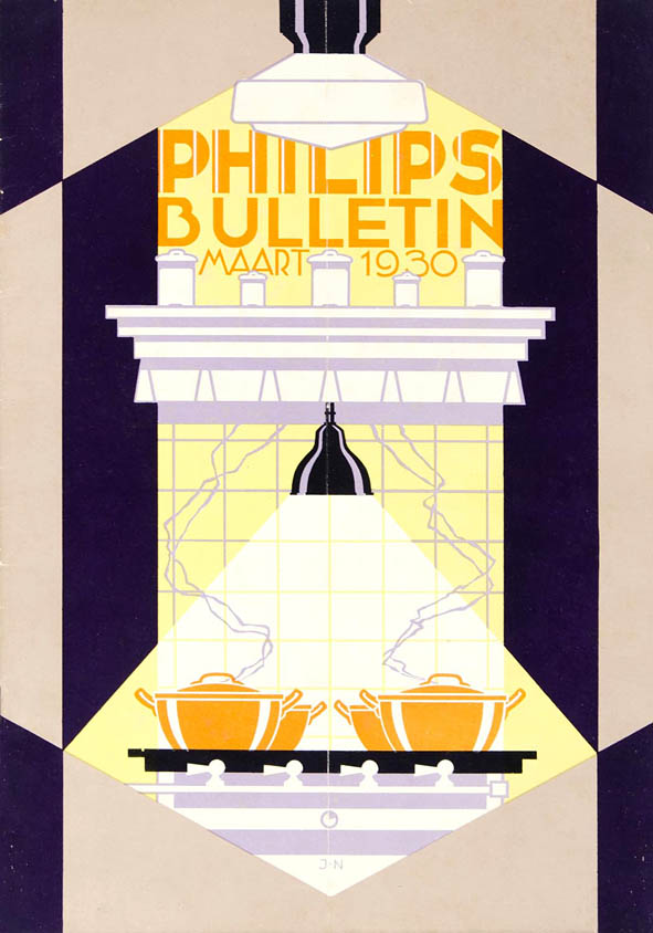 Philips bulletin omslagontwerp Jacob Nuiver 1930 stijl art deco