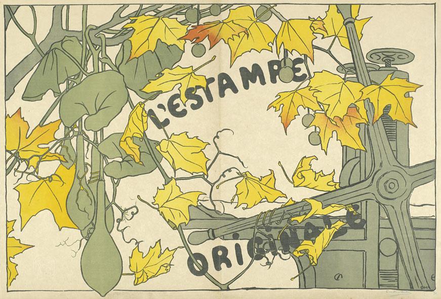 Camille Martin, 1894 - decoratief omslag van de 2e jrg. van het prentenalbum l'Estampe originale (collectie Van Gogh Museum)
