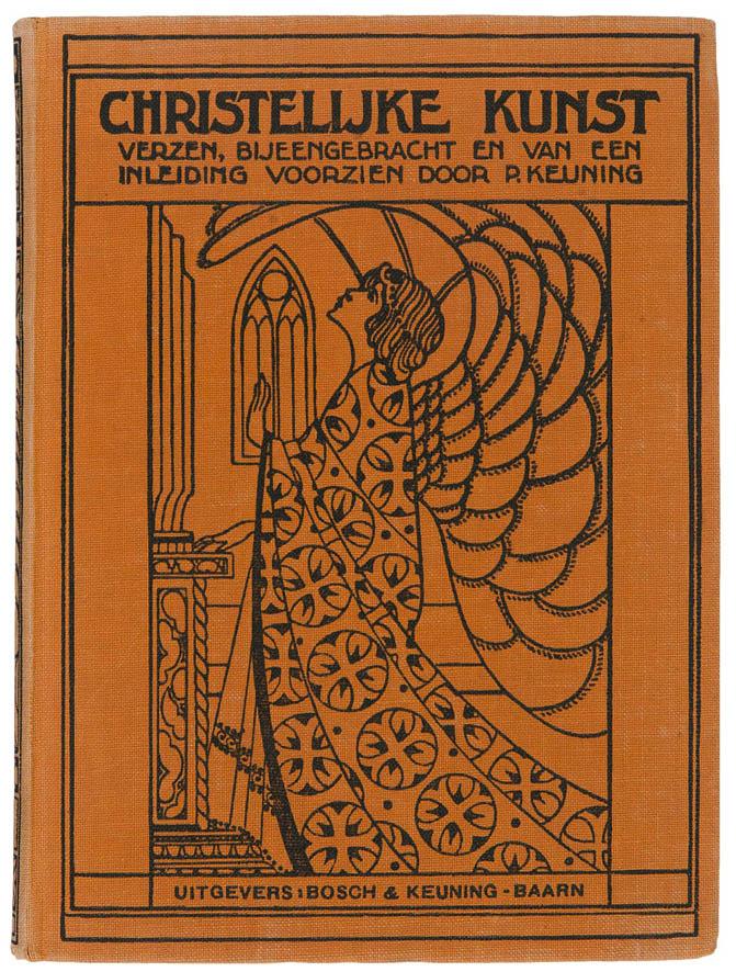 boekband Christelijke kunst ontwerp Jan van der Leeuw
