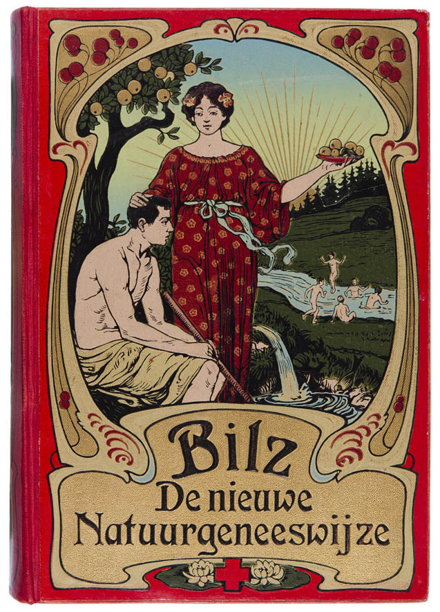 jugendstil art nouveau boekband Bilz - De nieuwe Natuurgeneeswijze 1905