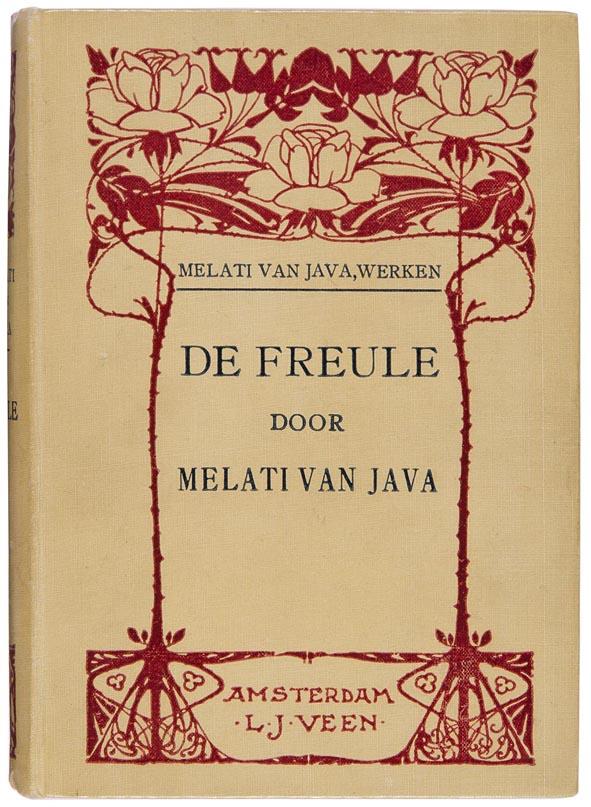 art nouveau boekband De Freule door Melati van Java ontwerp Willem Wenckebach 1915