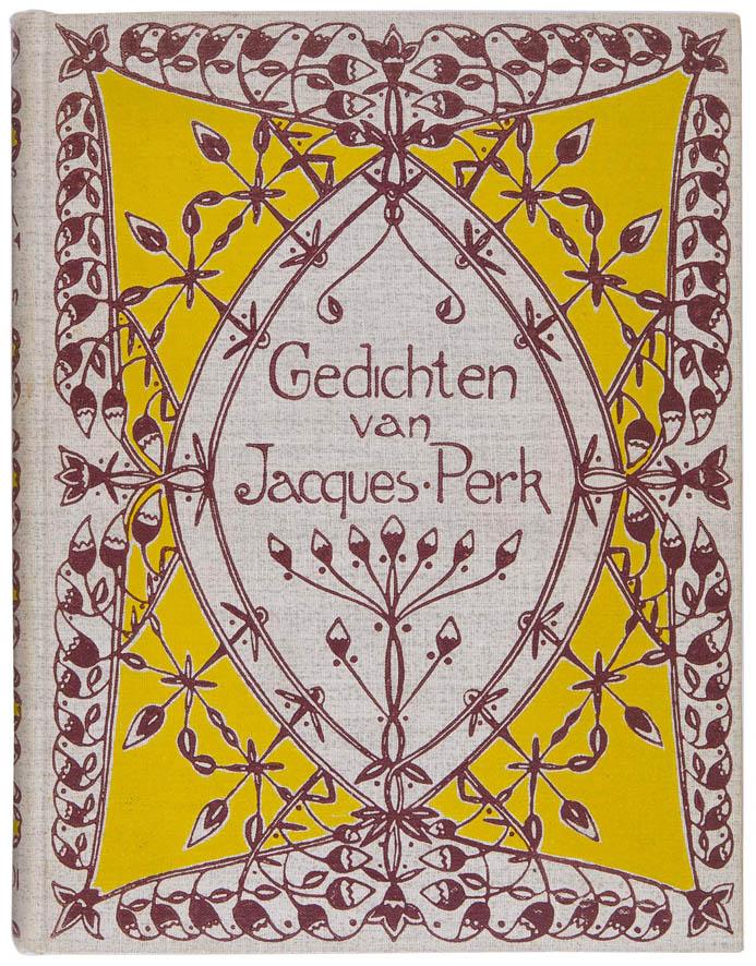 art nouveau boekband Gedichten van Jacques Perk ontwerper Jacobus Gerardus Veldheer 1901
