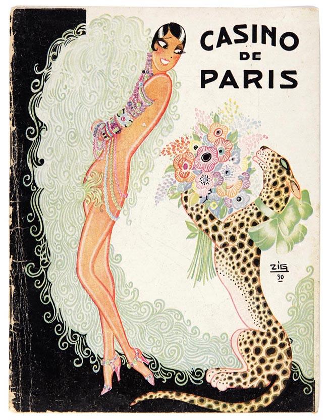 Programmaboekje Casino de Paris met Josephine Baker ontwerp Louis Gaudin (ZIG) 1930