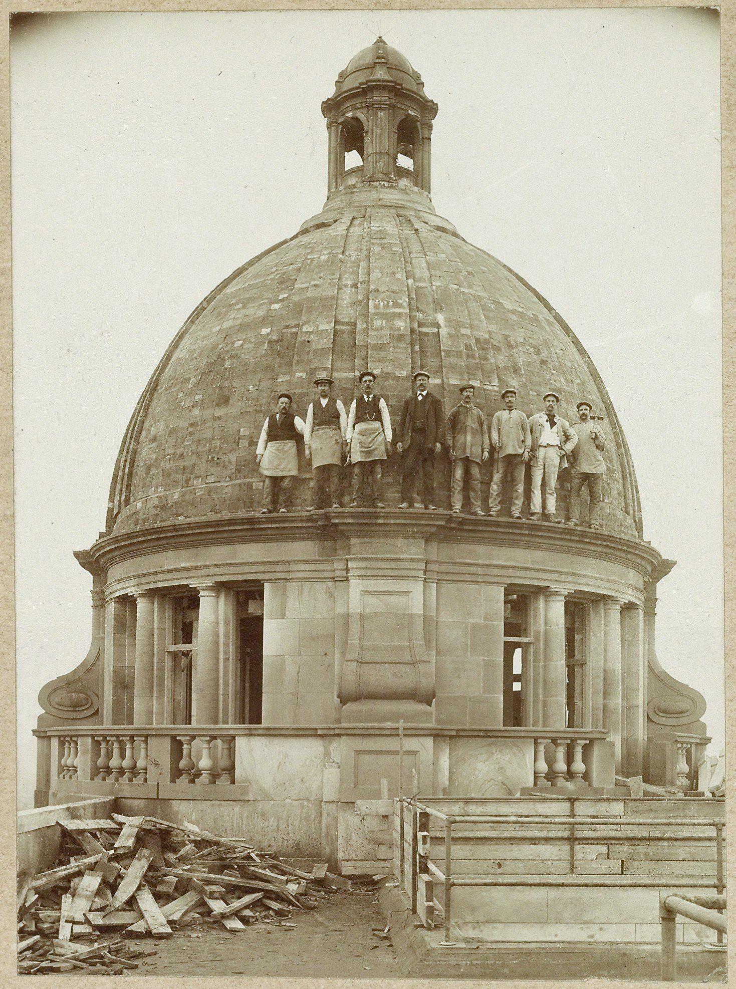 Koepel Hirsch-gebouw, anoniem, 1913, Collectie Stadsarchief Amsterdam