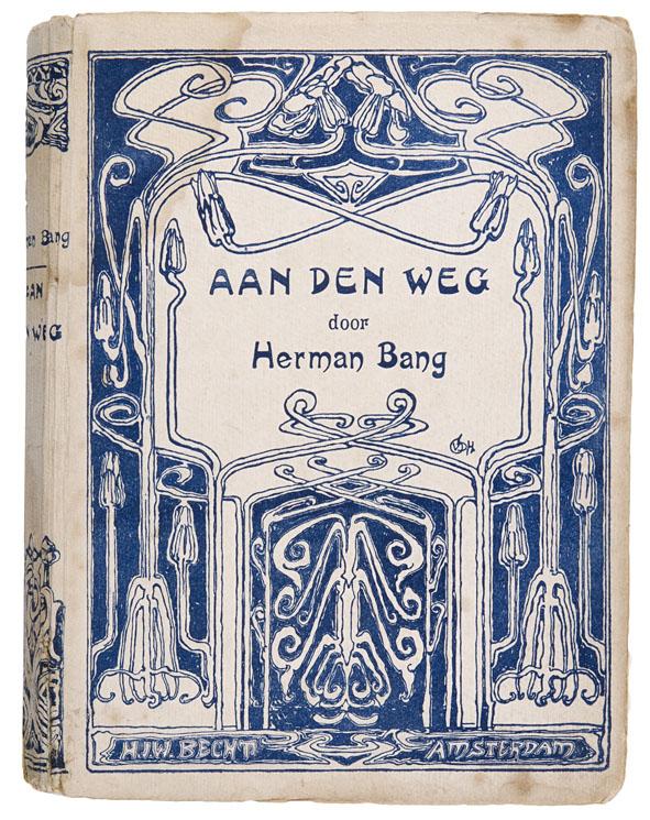 Aan den Weg door Herman Bang, bandontwerp: Cornelia van der Hart (1905)
