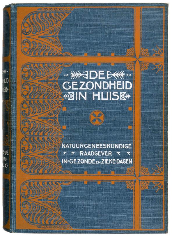 De gezondheid in huis art nouveau boekband ontwerp: Theo Neuhuys 1903