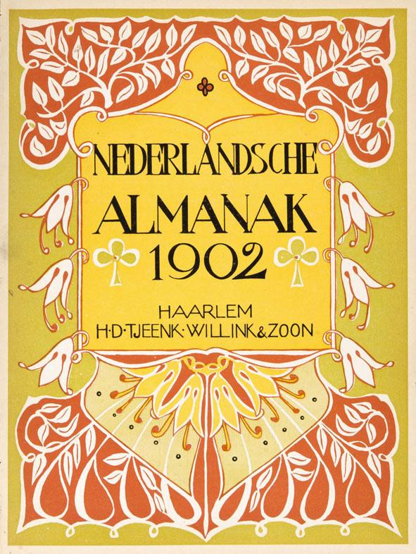 Nederlandsche Almanak voor 1902 art nouveau omslagontwerp: Jaap Veldheer