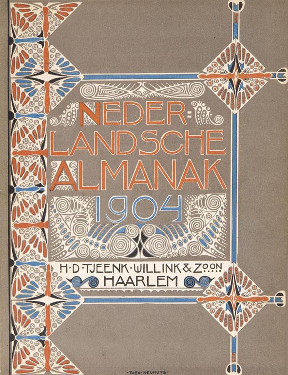 Nederlandsche Almanak voor 1904 art nouveau omslagontwerp: Theo Neuhuys (1903)