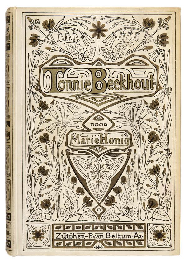 Tonnie Beekhout door Marie Honig art nouveau bandontwerp door Nelly Honig circa 1910