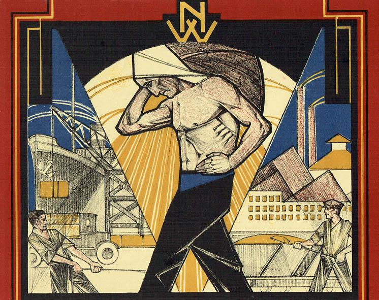 De havenarbeider, illustratie voor N.V.V. kalender 1928