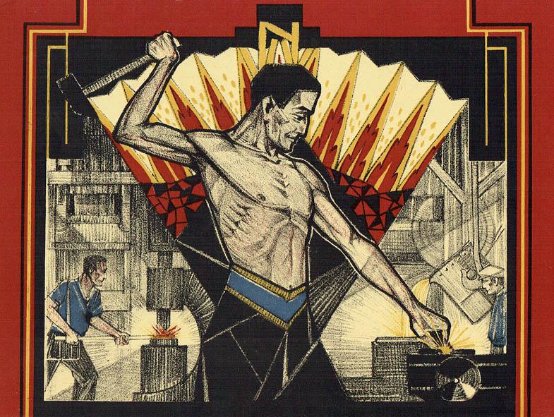 De metaalbewerker, illustratie voor N.V.V. kalender 1928