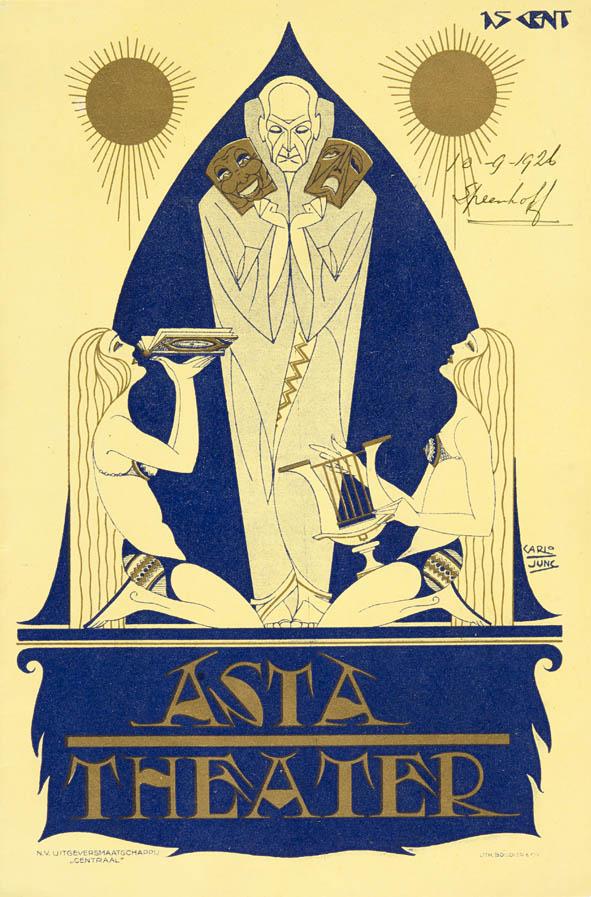 Art Deco Programma Asta Theater Den Haag 1926 ontwerper Carlo Jung