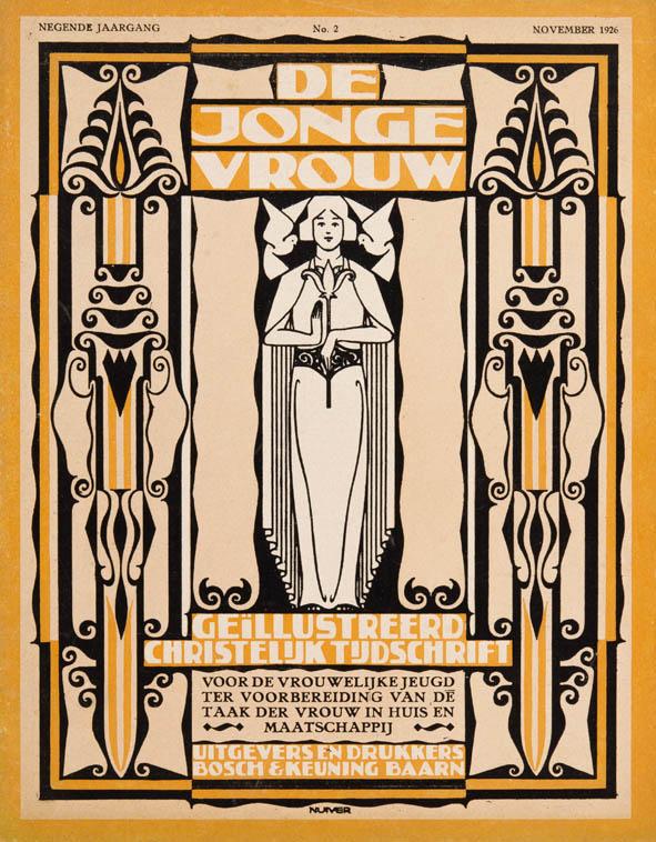 tijdschrift_de_jonge_vrouw_1926_omslagontwerp_jacob_nuiver-amsterdamse_school_art_deco