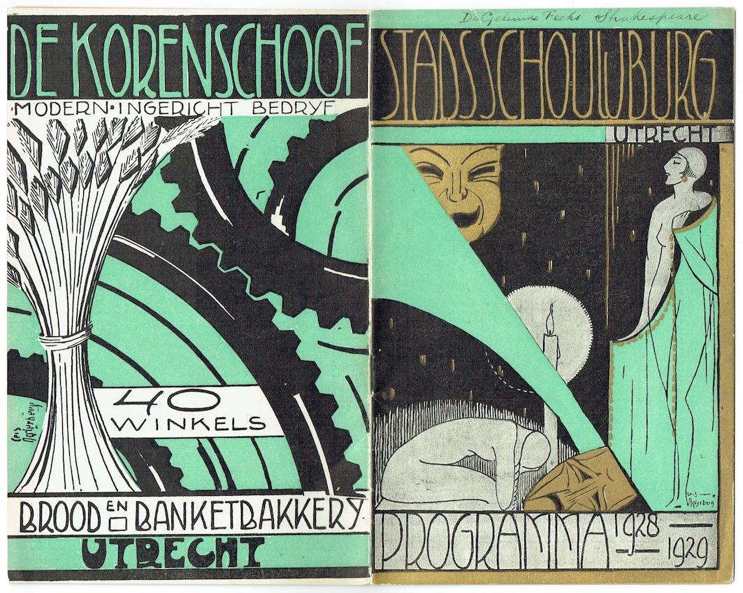 programmaboekje stadsschouwburg Utrecht ontwerper Cris Agterberg