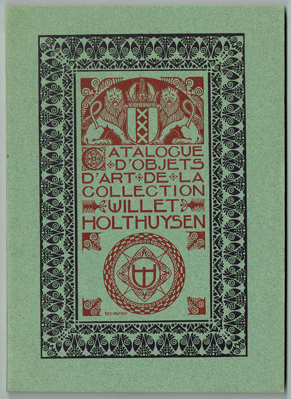 Catalogue d'objets d'art de la collection Willet-Holthuysen, omslagontwerp: Theo Neuhuys (1907)