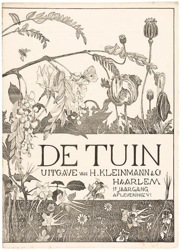 Art Nouveau tijdschrift De Tuin omslagontwerp Theo van Hoytema 1899
