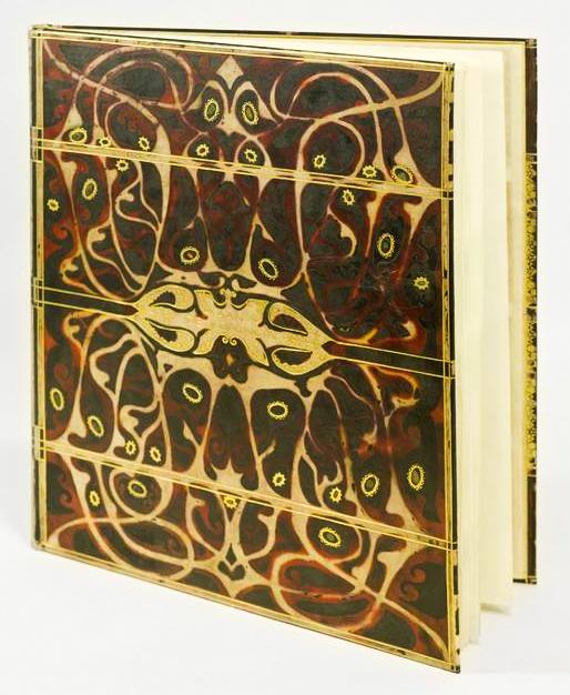 boekband sportalbum voor koningin Wilhelmina, ontwerper: Carel Adolph Lion Cachet