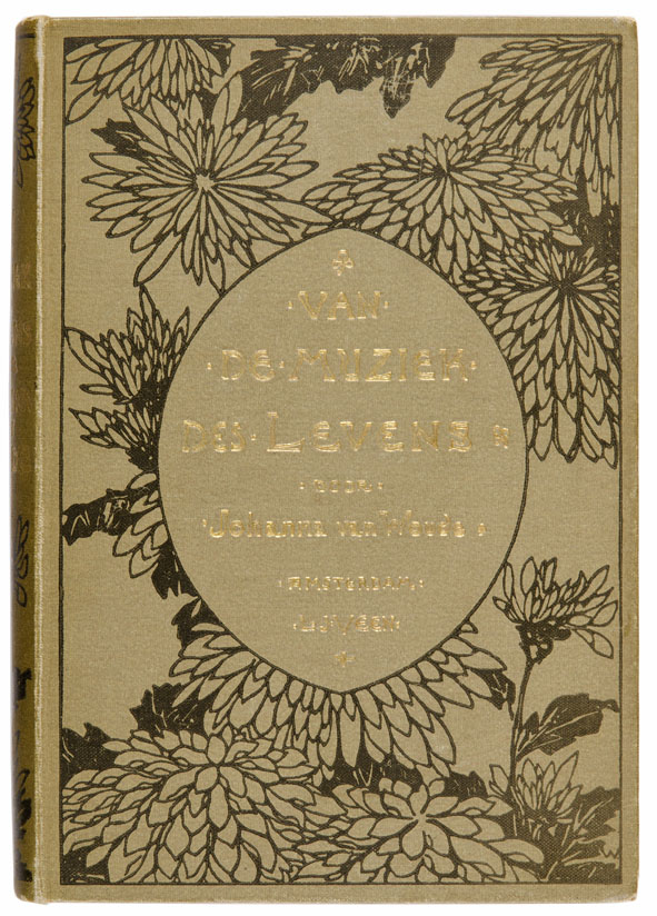 Van de muziek des levens door Johanna Woude, bandontwerp: Willem Wenckebach (1895)
