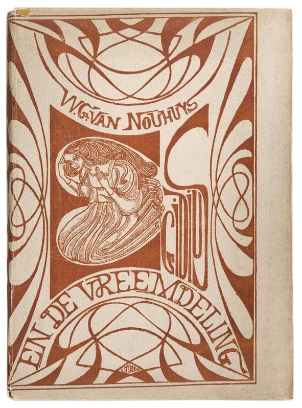 Egidius en de vreemdeling - W.G. van Nouhuys, omslagontwerp: Jan Toorop (1899)
