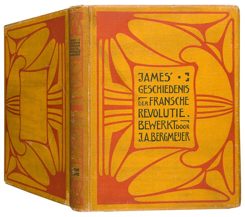 James' geschiedenis der Fransche revolutie, bandontwerp: Gustaaf van de Wall Perné (1905)