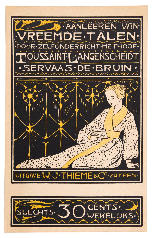 Prospectus voor 'Het aanleren van vreemde talen' (...), ontwerp: Georg Rueter (ca. 1899)